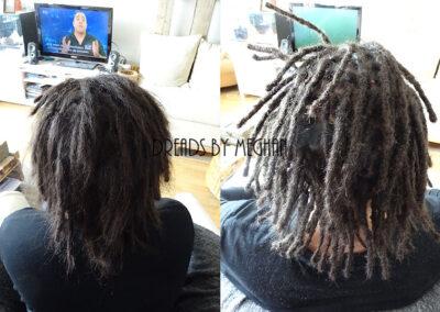 dreads bijwerken - dreadlock onderhoud - uitgroei bijwerken - losse haren dreads - Lock Solid Rotterdam (131)