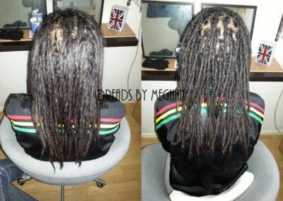 dreads bijwerken - dreadlock onderhoud - uitgroei bijwerken - losse haren dreads - Lock Solid Rotterdam (135)