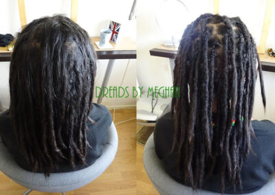 dreads bijwerken - dreadlock onderhoud - uitgroei bijwerken - losse haren dreads - Lock Solid Rotterdam (146)