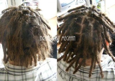 dreads bijwerken - dreadlock onderhoud - uitgroei bijwerken - losse haren dreads - Lock Solid Rotterdam (25)