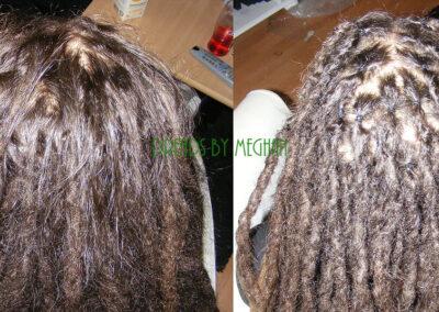 dreads bijwerken - dreadlock onderhoud - uitgroei bijwerken - losse haren dreads - Lock Solid Rotterdam (87)