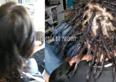 dreads zetten in dun haar - dreads zetten weinig haar - een paar dreads zetten - weinig dreads - dun haar dreadlocks - Lock Solid Dreadlocks Rotterdam (10)